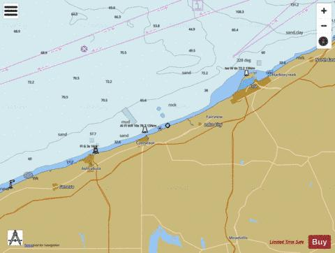 ERIE TO GENEVA Marine Chart - Nautical Charts App