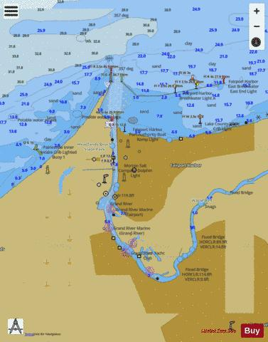 FAIRPORT HARBOR LAKE ERIE-OHIO Marine Chart - Nautical Charts App
