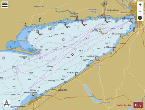 topographic map of lake erie Buffalo To Erie Marine Chart Us14838 P1139 Nautical Charts App