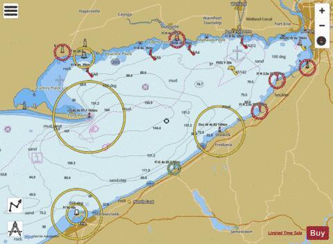 lake erie maps depths Buffalo To Erie Marine Chart Us14838 P1139 Nautical Charts App lake erie maps depths