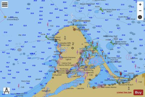 Islands In Lake Erie 27 Marine Chart Nautical Charts