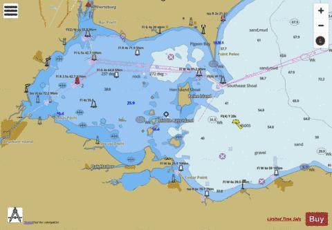 West End Of Lake Erie 38 Marine Chart Us14842 P1206 Nautical