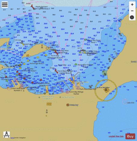 Put In Bay Ohio Marine Chart Us14844 P1209 Nautical Charts App