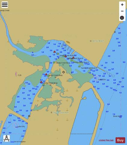 WEST END OF LAKE ERIE PAGE 19 RIGHT PANEL Marine Chart - Nautical Charts App