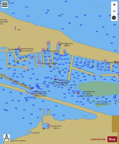 WEST END OF LAKE ERIE PAGE 34 RIGHT PANEL Marine Chart - Nautical Charts App