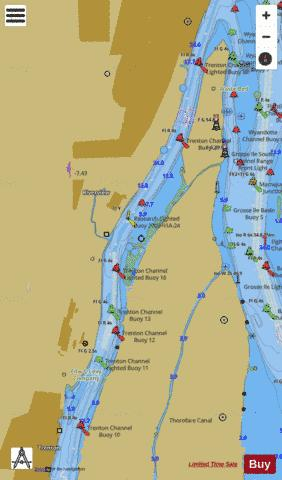 DETROIT RIVER Marine Chart - Nautical Charts App