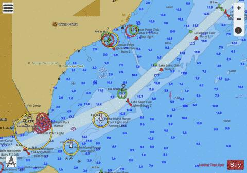 LAKE ST.CLAIR PAGE 16 Marine Chart - Nautical Charts App