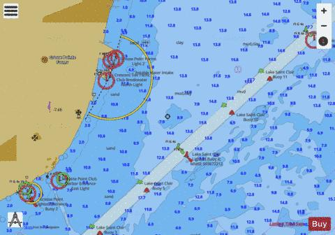 LAKE ST.CLAIR PAGE 17 Marine Chart - Nautical Charts App