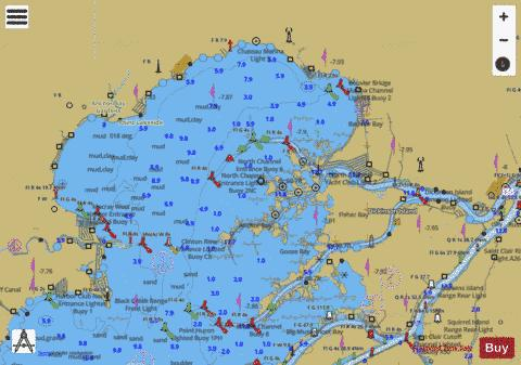 LAKE ST CLAIR 23 Marine Chart - Nautical Charts App