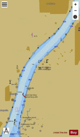ST CLAIR RIVER PAGE 48 Marine Chart - Nautical Charts App