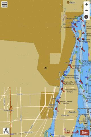 DETROIT RIVER TRENTON CHANNEL AND RIVER ROUGE Marine Chart - Nautical Charts App