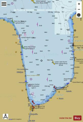 PORT HURON TO POINT AUX BARQUES MICHIGAN Marine Chart - Nautical Charts App