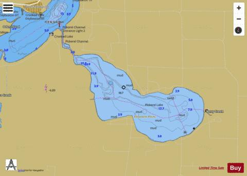 INLAND ROUTE MICHIGAN 13 Marine Chart - Nautical Charts App