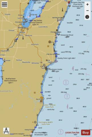 LAKE MICHIGAN-ALGOMA TO SHEBOYGAN Marine Chart - Nautical Charts App