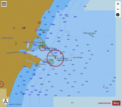 PORT WASHINGTON WISCONSIN (Marine Chart : US14904_P1367) | Nautical