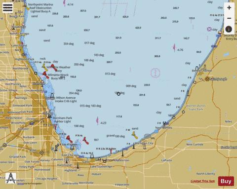 LK MICH WAUKEGAN ILL-SOUTH HAVEN MICH Marine Chart - Nautical Charts App