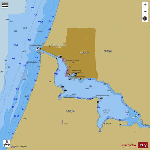 PENTWATER HARBOR MICHIGAN Marine Chart - Nautical Charts App