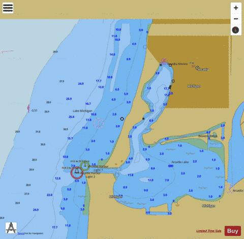 ARCADIA HARBOR MICHIGAN Marine Chart - Nautical Charts App