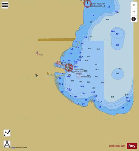 Sutton Bay Michigan Map.Suttons Bay Michigan Marine Chart Us14913 P1403 Nautical