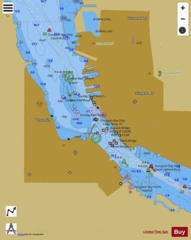 STURGEON BAY WISCONSIN (Marine Chart : US14919_P1445) | Nautical