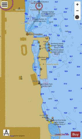 CHICAGO AND VICINITY PAGE 8 Marine Chart - Nautical Charts App