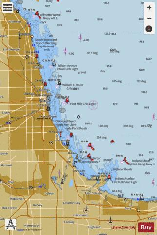 CHICAGO LAKE FRONT Marine Chart - Nautical Charts App