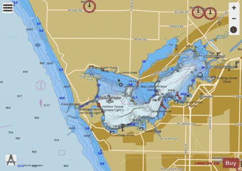 muskegon lake fishing map Muskegon Harbor Michigan Muskegon Lake Marine Chart Us14934 P1491 Nautical Charts App muskegon lake fishing map