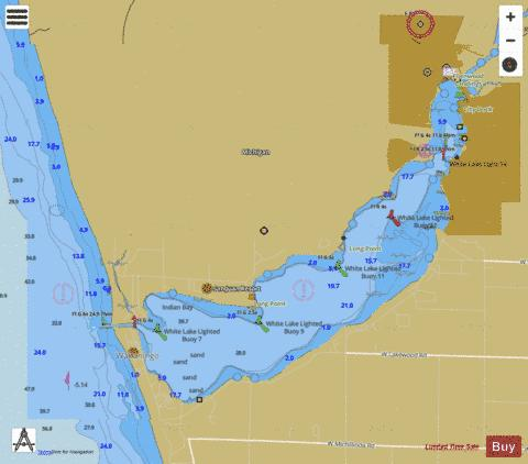 muskegon lake fishing map White Lake Marine Chart Us14935 P1492 Nautical Charts App muskegon lake fishing map