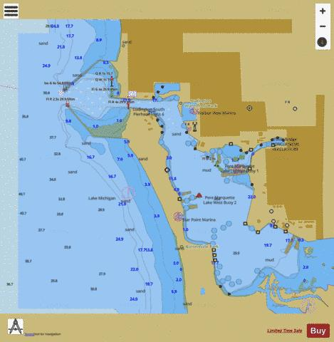 LUDINGTON HARBOR  Marine Chart - Nautical Charts App