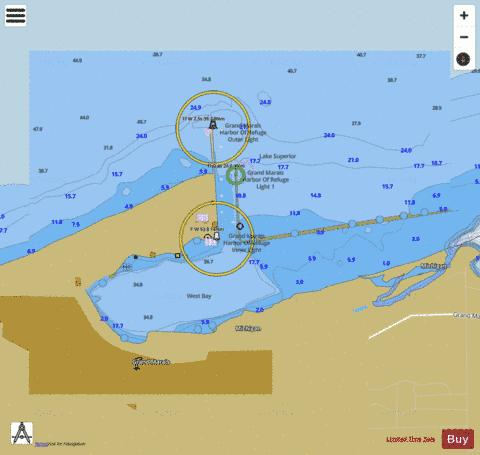 GRAND MARAIS MICHIGAN Marine Chart - Nautical Charts App