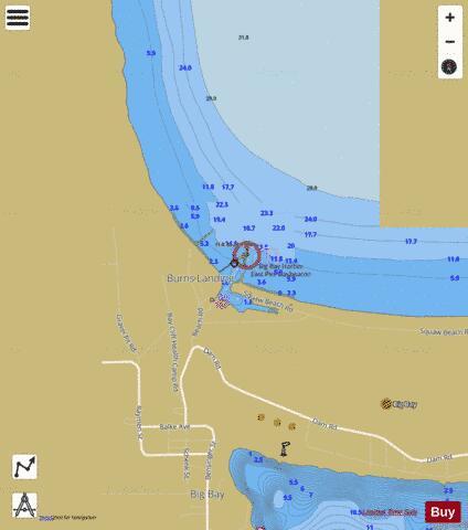 Big Bay Harbor Michigan Marine Chart Us14963 P1505 Nautical