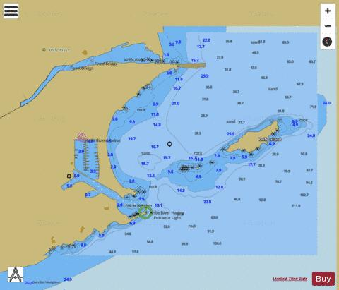 KNIFE RIVER MINNESOTA Marine Chart - Nautical Charts App