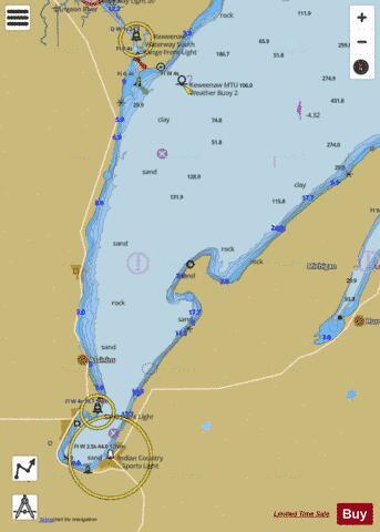 Keweenaw Bay Lake Superior Marine Chart Nautical Charts
