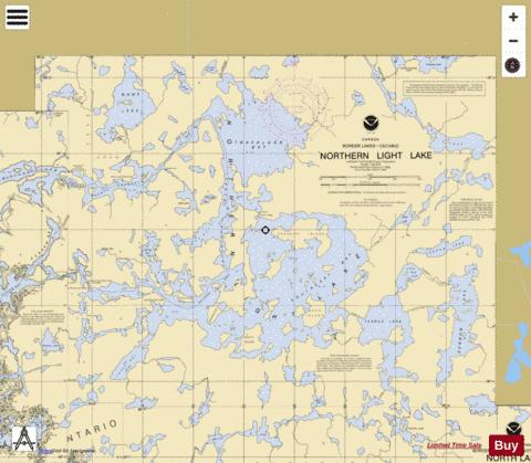 NORTHERN LIGHT LAKE Marine Chart - Nautical Charts App