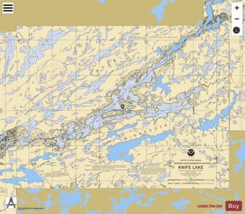 KNIFE LAKE Marine Chart - Nautical Charts App