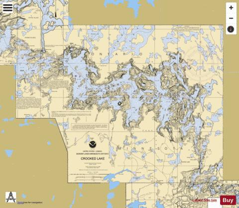 CROOKED LAKE Marine Chart - Nautical Charts App
