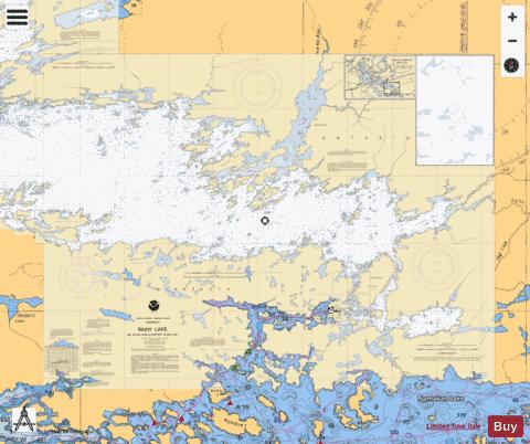 RAINY LAKE BIG ISLAND MINN TO OAKPOINT ISL ONT Marine Chart - Nautical Charts App