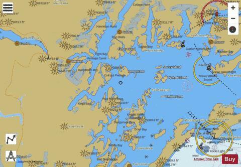 PRINCE WILLIAM SOUND WESTERN PART (Marine Chart : US16705_P2601
