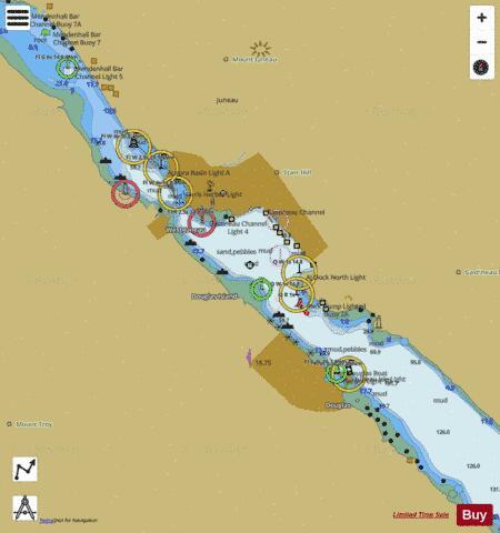 JUNEAU HARBOR (Marine Chart : US17315_P2630) | Nautical Charts App