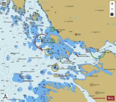 SITKA HARBOR AND APPROACHES (Marine Chart : US17327_P2657