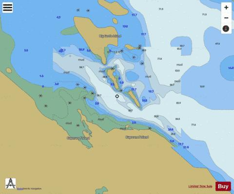 BIG CASTLE ISLAND Marine Chart - Nautical Charts App