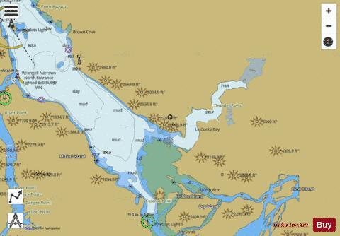 Frederick Sound Alaska Map.Alaska Frederick Sound And Leconte Bay Marine Chart Us17377 P2936