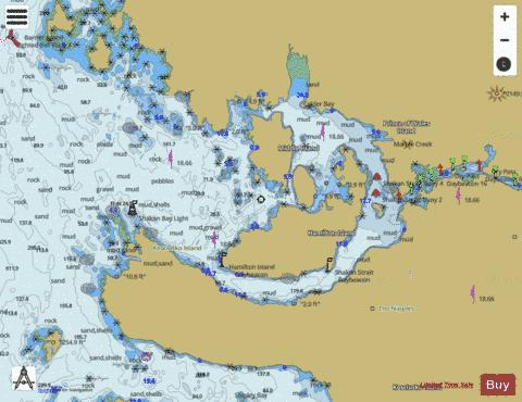 SHAKEN BAY AND STRAIT- ALASKA Marine Chart - Nautical Charts App