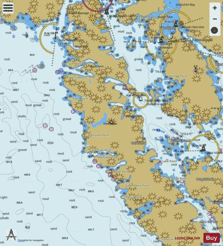 CENTRAL DALL ISLAND AND VICINITY Marine Chart - Nautical Charts App