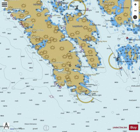 SOUTHERN DALL ISLAND AND VICINITY Marine Chart - Nautical Charts App