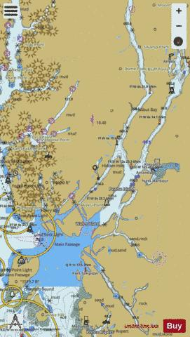 PORTLAND CANAL DIXON ENTRANCE TO HATTIE ISLAND Marine Chart - Nautical Charts App