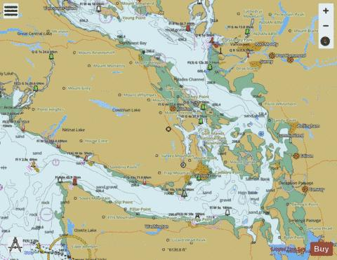 STRAIT OF GEORGIA AND STRAIT OF JUAN DE FUCA Marine Chart - Nautical Charts App