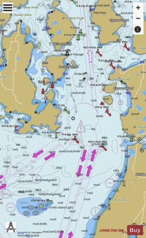 ROSARIO STRAIT SOUTH PART Marine Chart - Nautical Charts App
