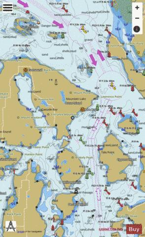 ROSARIO STRAIT NORTH PART Marine Chart - Nautical Charts App