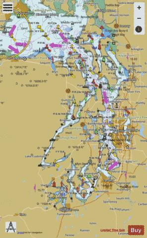 Puget sound marine chart us18440p1688 nautical charts app puget sound marine chart nautical charts app sciox Choice Image